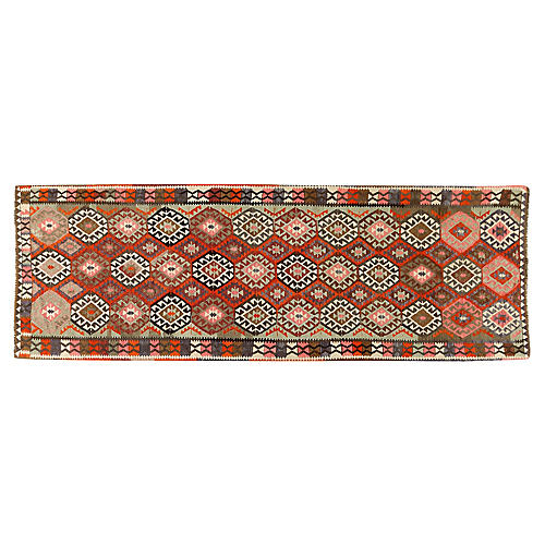 Turkish Kilim Rug Runner 4'3 x 13'2