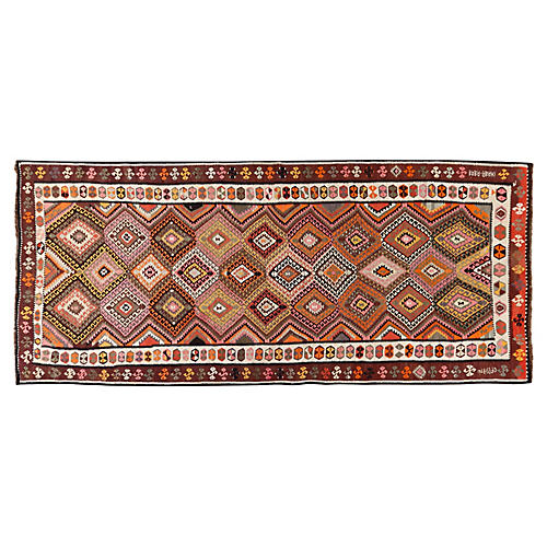 Turkish Kilim Runner, 5'9 x 14'7