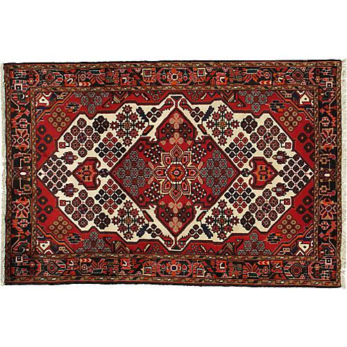 "Persian Afshar Rug, 4'7"" x 6'9"""