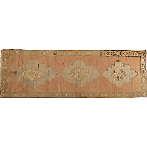 Antique Oushak Gallery Rug 4'4x12'10