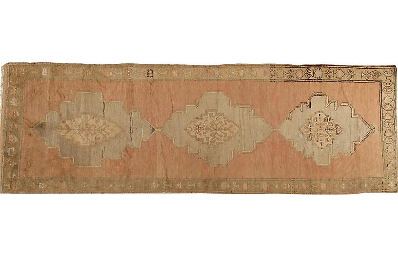 Antique Oushak Gallery Rug 4'4x12'10
