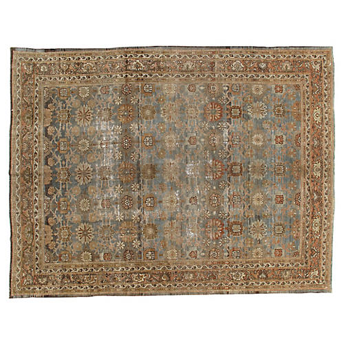 "Antique Distressed Malayer, 8'8"" x 11'3"""