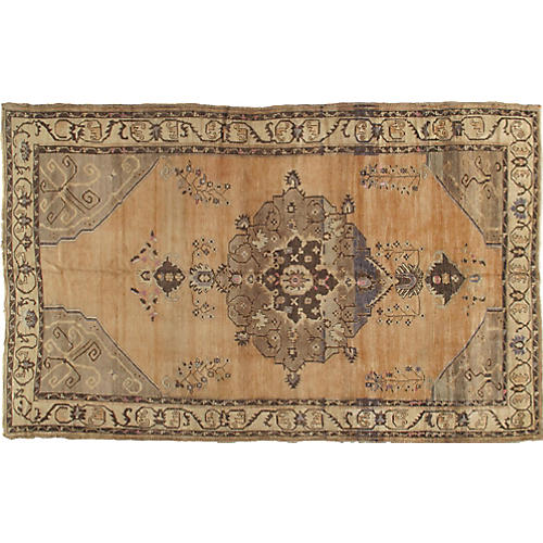 "Turkish Oushak Rug, 6'7"" x 10'7"""
