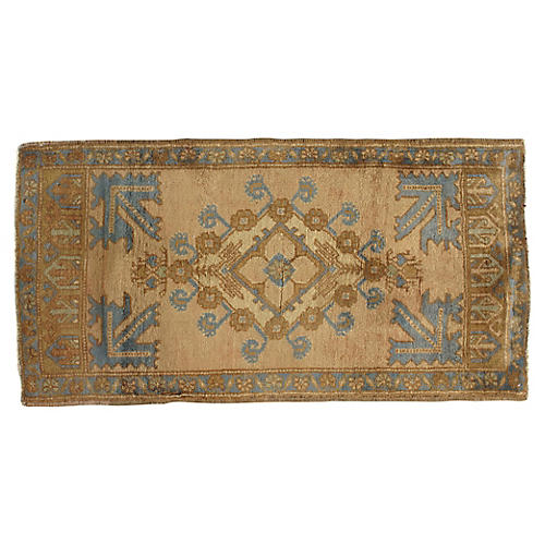 """Hand-Knotted Yastik Rug 2' x 3'10"""""""