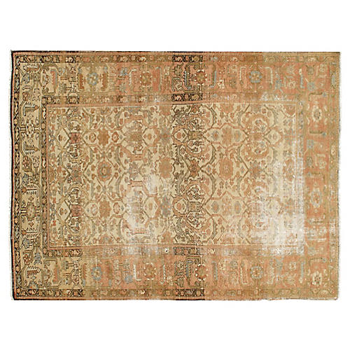 Antique Distressed Sultanabad 5'1x6'11