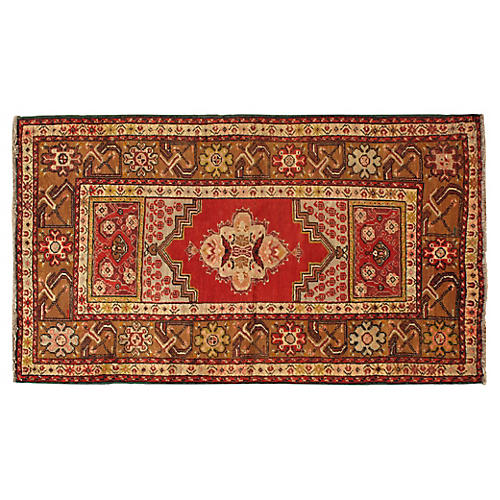 "Turkish Oushak Rug, 3'7"" x 6'4"""