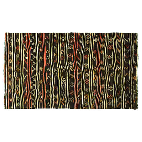 Turkish Kilim, 6'3 x 12'