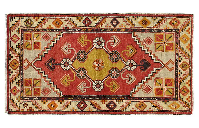 Turkish Oushak Rug, 2'8