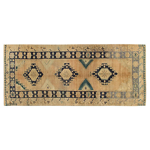 "Turkish Oushak Runner, 5'1"" x 12'5"""