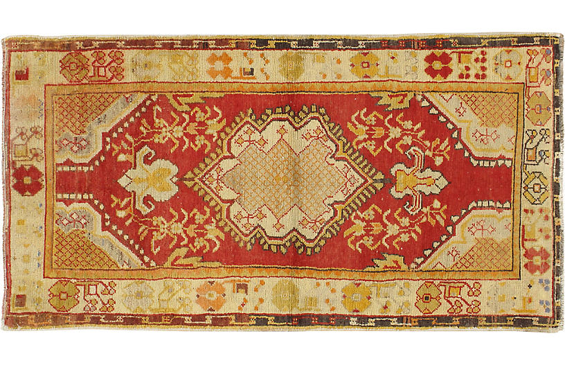 Turkish Oushak Rug 2'10 x 5'2