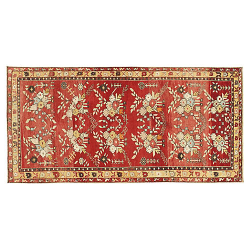 Turkish Oushak Rug 4'10 x 8'3