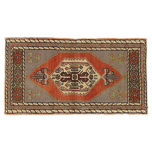 Turkish Yastik Rug 1'10 x 3'4