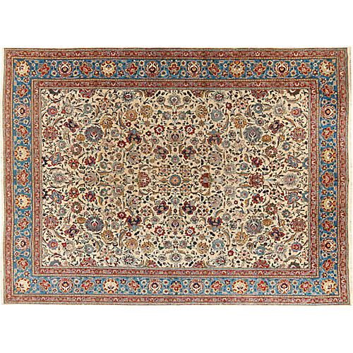 "Tabriz Carpet, 9'9"" x 13'2"""
