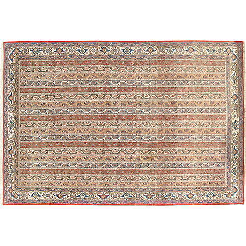 Persian Hand Woven Qum Rug 7'7 x 11'1