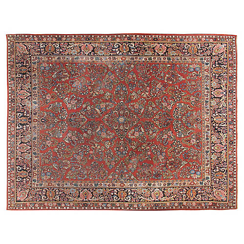 "Sarouk Carpet, 9'2"" x 11'9"""