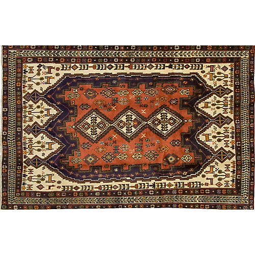 "Persian Hamadan Rug 5' x 7'11"""
