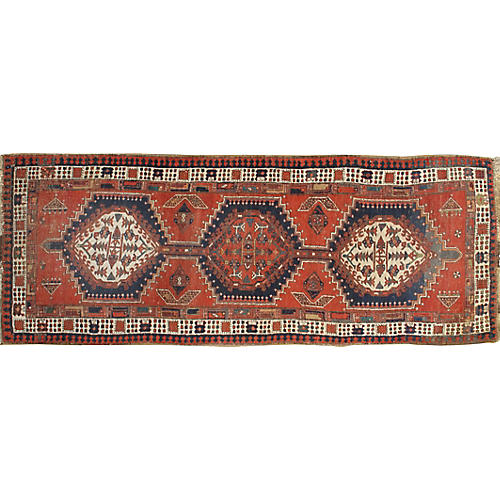 "Antique Bidjar Runner, 2'11"" x 7'7"""