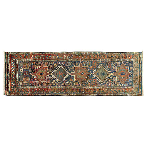 NW Persian Hand Woven Runner 3'4 x 9'4