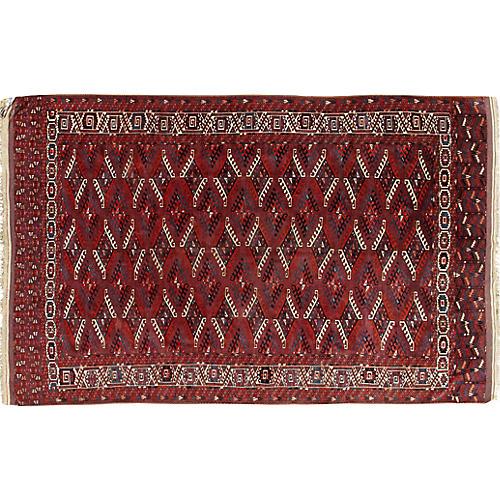 Turkman Yamout Hand Woven Rug 6'9 x 10'6