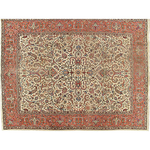 "Tabriz Carpet, 9'9"" x 12'9"""