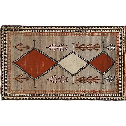 Hand Woven Gabbeh Rug 4'3 x 6'11