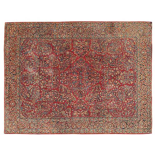 """Persian Sarouk Rug, 8'8"""" x 11'6"""""""