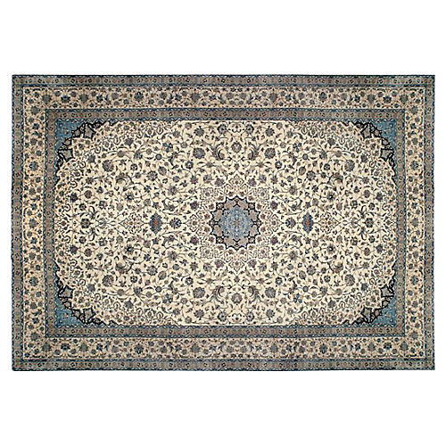 Fine Hand Woven Silk Nain Rug 13'8x24'4