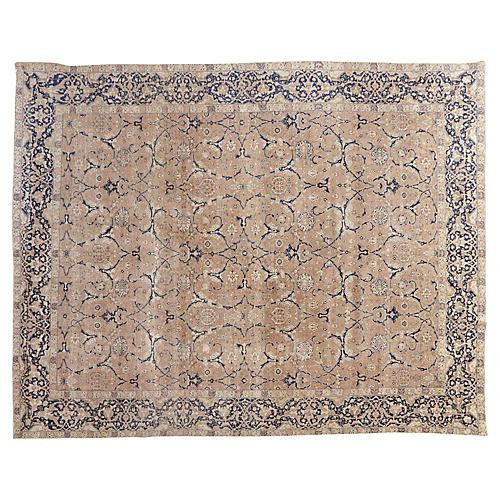 "Antique Tabriz Carpet, 9' x 11'3"""