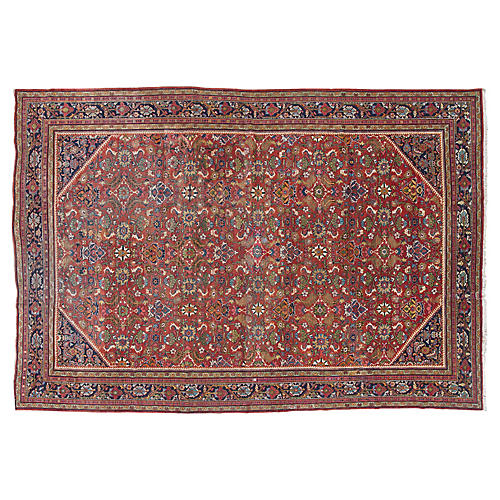"Antique Mahal Carpet, 11'9"" x 18'9"""
