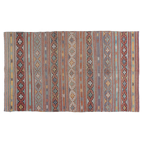 "Turkish Kilim, 6'2"" x 11'"