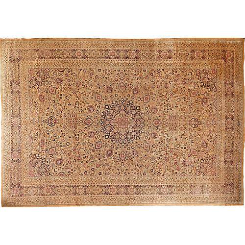 "Antique Mashad Carpet, 13'3"" x 19'4"""