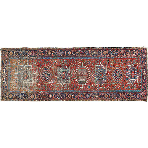 "Distressed Karadja Runner, 3'2"" x 9'2"""