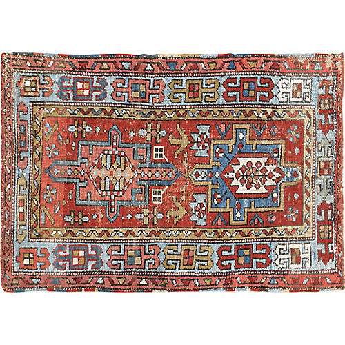 "Distressed Karadja Rug, 2'7"" x 4'"