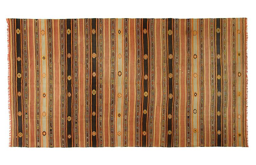 Turkish Flat Weave Kilim Rug 6'3 x 11'10