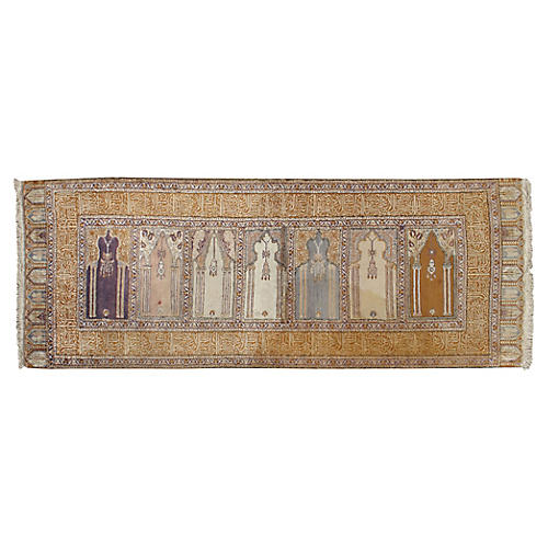 "Kayseri Prayer Rug, 2'8"" x 7'"