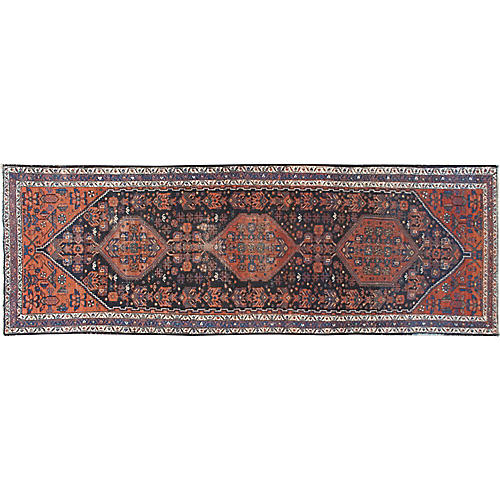 "Distressed Malayer Runner, 3'9"" x 11'2"""