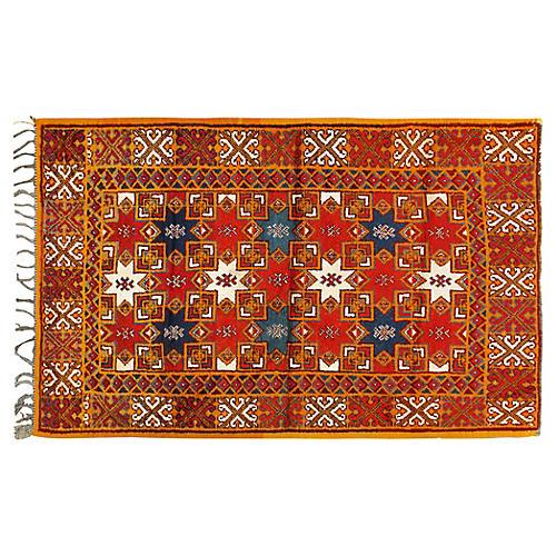 "Moroccan Rug, 4'1"" x 6'6"""