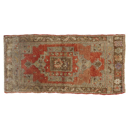 "Turkish Yastik Rug, 1'7"" x 3'3"""