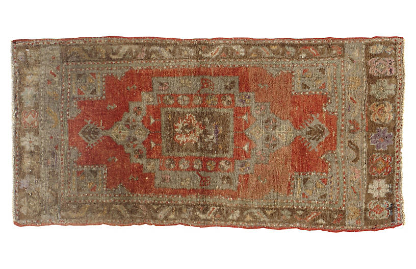 Turkish Yastik Rug, 1'7