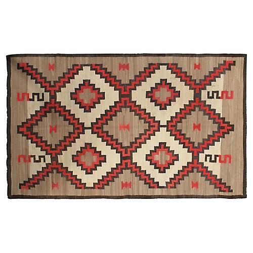 "Navajo Flat-Weave Rug, 4'5"" x 7'2"""