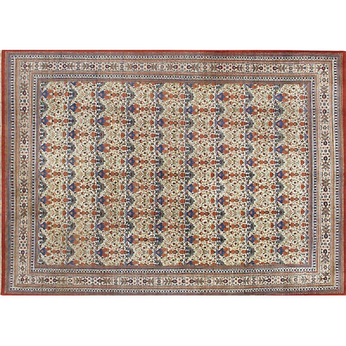 "Persian Quom Rug, 7'8"" x 10'1"""