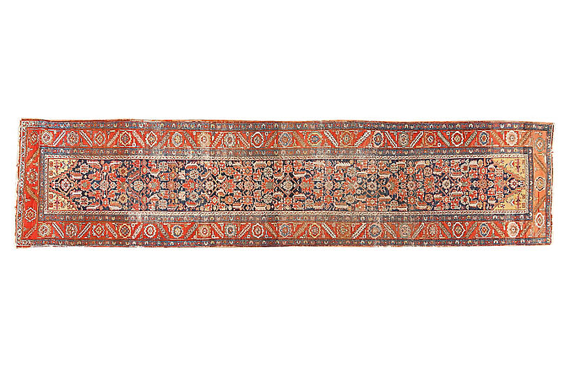 Antique Heriz Runner, 3'1