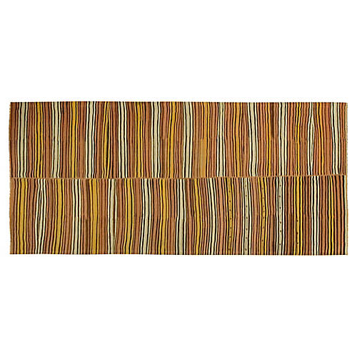 "Turkish Kilim, 5'5"" x 12'1"""