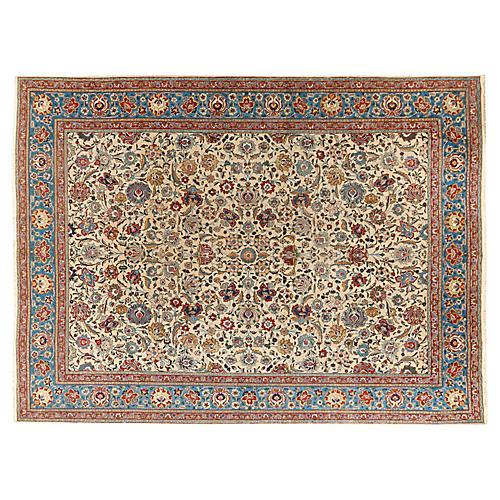 "Persian Tabriz Carpet, 9'9"" x 13'2"""