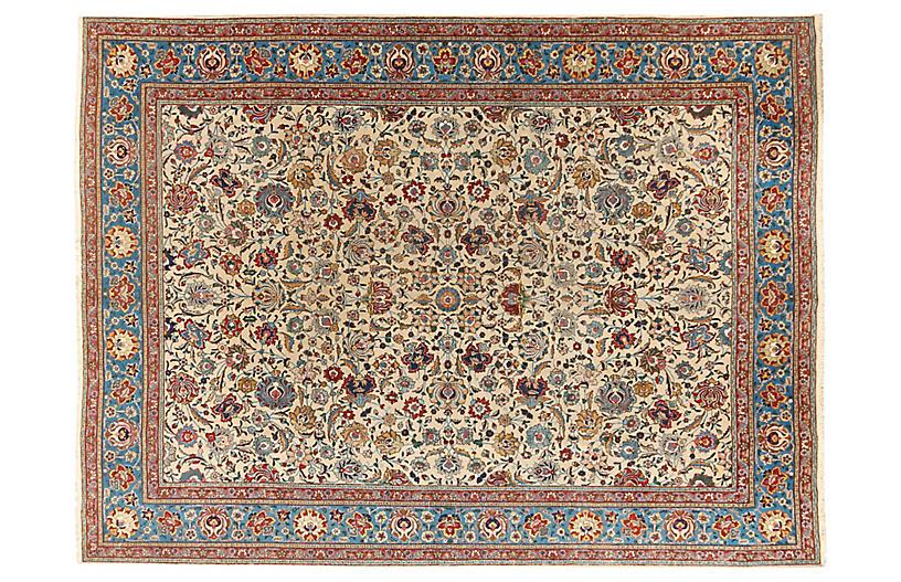 Persian Tabriz Carpet, 9'9