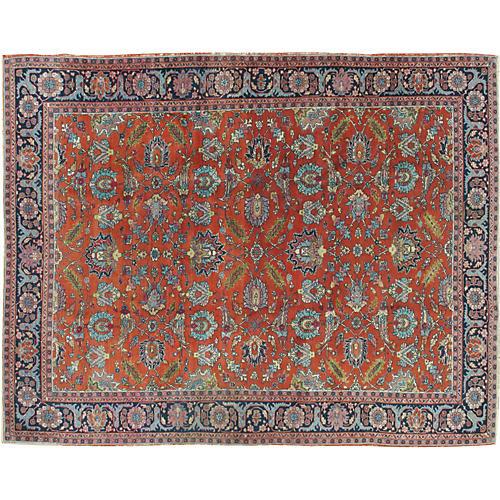 """Persian Tabriz Rug, 6'7"""" x 8'8"""""""