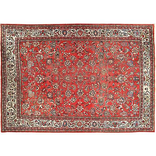 Hamadan Hand Woven Rug 7'10 x 11'2