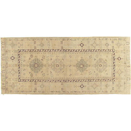 "Turkish Oushak Runner 4'9"" x 11'3"""