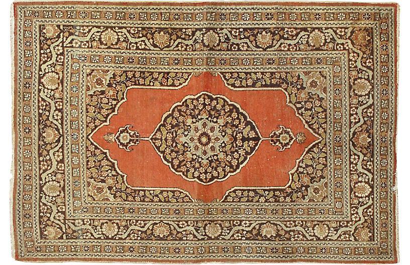 Antique Tabriz Rug, 4'2
