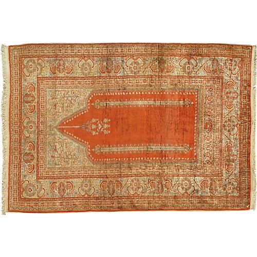 "Turkish Silk Sivas Rug, 4' x 5'11"""